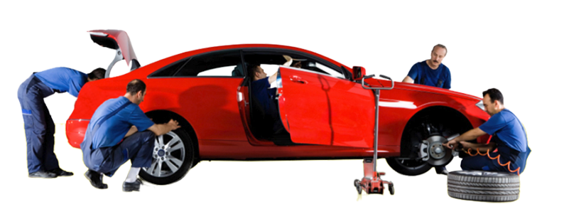Teamet på Lota Bilvård utför bilvårdtjänster